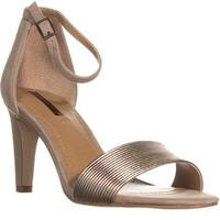 Tahari Novel Ankle Strap Dress Sandals, Bronze/Cabin Taupe - 7 us