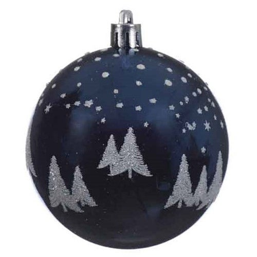 Blue Shatterproof Tree Ball Ornament