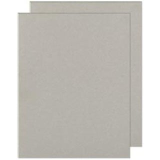 "Gray Chipboard - Cinch Book Board 8.5""X11"" 2/Pkg"