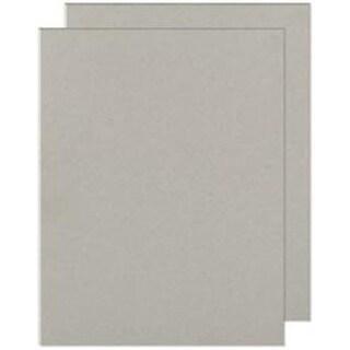 "Gray Chipboard - Cinch Book Board 8.5""X11"" 2/Pkg"
