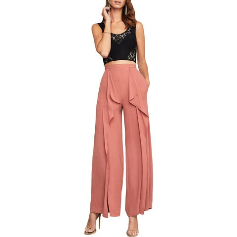 BCBG Max Azria Womens Jackee Dress Pants Chiffon Wide Leg
