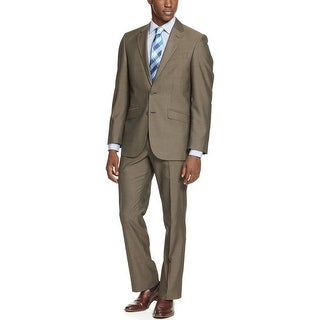 Unlisted By Kenneth Cole Brown Sharkskin Suit 38 Regular 38R Pants 31 Waist