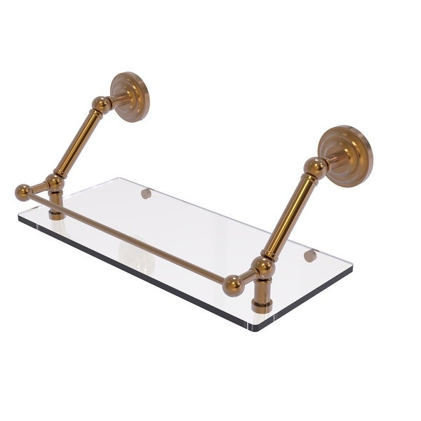 Allied Brass Prestige Que New Floating Glass Shelf with Gallery Rail