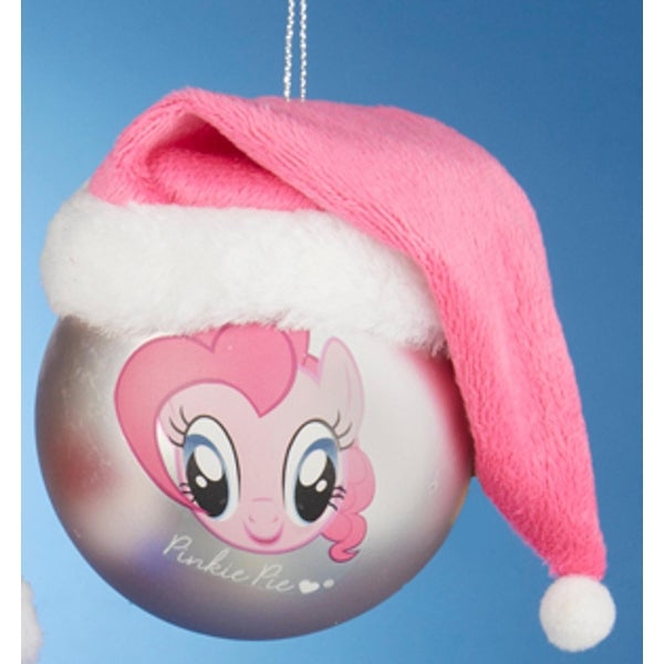 "3"" My Little Pony ""Pinkie Pie"" and ""Rarity"" Pink Shatterproof Christmas Ball Ornament (75mm)"