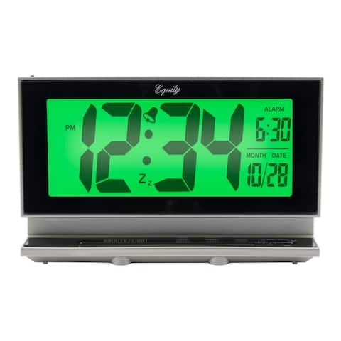 Equitys 2 Inch Digital LCD Alarm Clock With Night Vision Model 30041