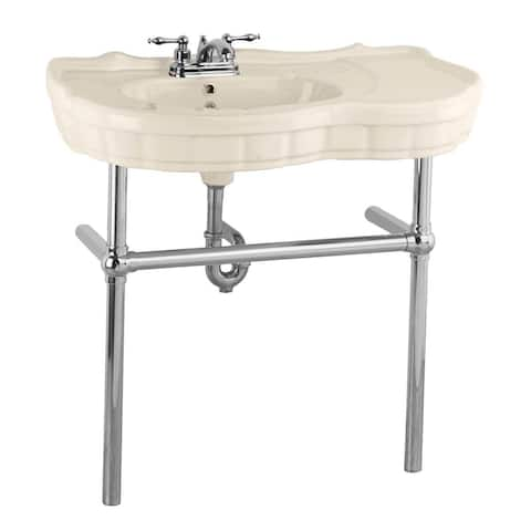 Console Sink Southern Belle Bone China Bistro Wall Mount