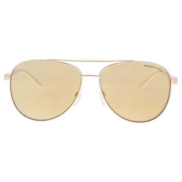 40cd87779c Shop Michael Kors MK5007 1080R1 Rose Gold Aviator Sunglasses - 59-14 ...