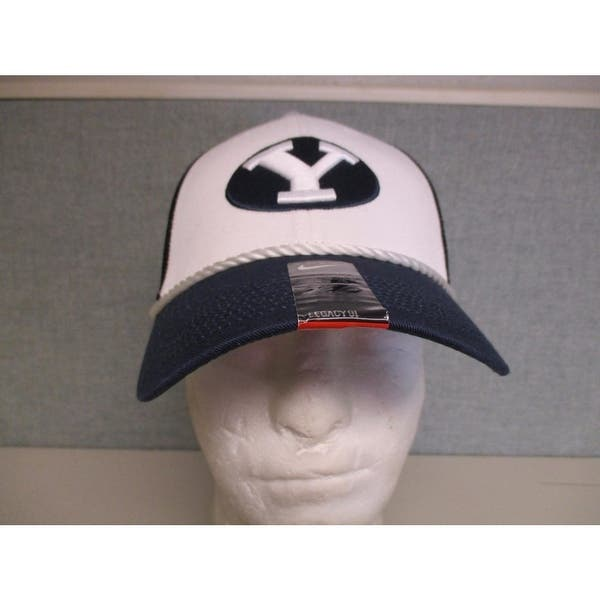 sale retailer a23c5 1e57f Byu Cougars Adult Mens Sizes Osfa Nike Trucker Flex Fit Cap Hat