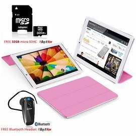 Indigi® 7inch Factory Unlocked 2-in-1 Android 4.4 Smartphone + TabletPC w/ Built-in Smart Cover + Bundle Included(Pink)
