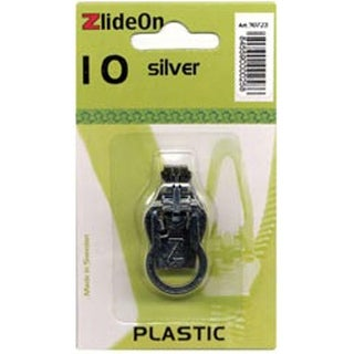 ZlideOn Zipper Pull Replacements Plastic 10-Silver