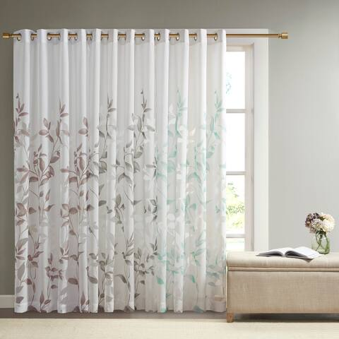 "The Gray Barn Yturria Grey Printed Curtain Panel - 84"" Panel"