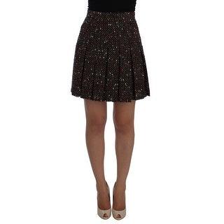 Dolce & Gabbana Dolce & Gabbana Multicolor A-Line Wool Tweed Skirt