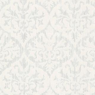 Brewster 2542-20701 Sumatra Silver Ikat Damask Wallpaper