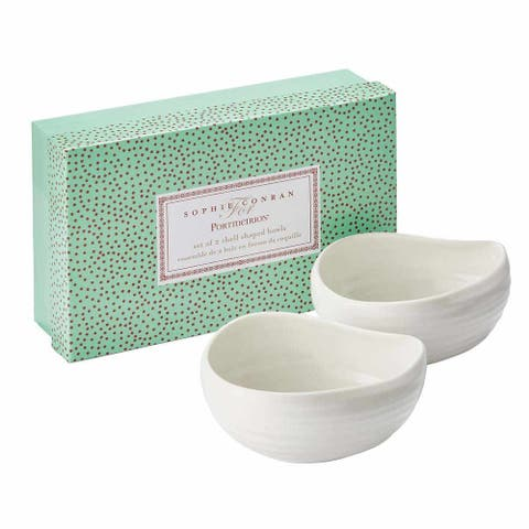 Sophie Conran for Portmeirion Shell Shaped Bowls Set of 2 - White