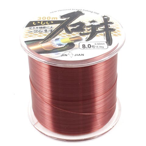 Unique Bargains 328Yds/300M 0.5mm 40.6 lbs Nylon Spool Fishing Line