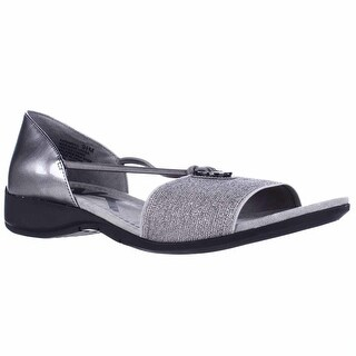Anne Klein Sport Kameko Wedge Sandals - Pewter/Pewter