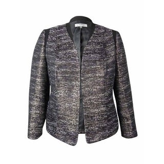 Kasper Women's Open Front Metallic Textured Blazer