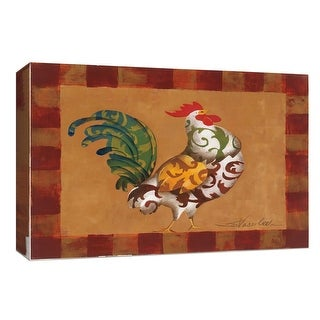 """PTM Images 9-154087  PTM Canvas Collection 8"""" x 10"""" - """"Decorative Rooster"""" Giclee Farm Animals Art Print on Canvas"""