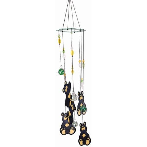 Spoontiques 11952 black bear wind chime