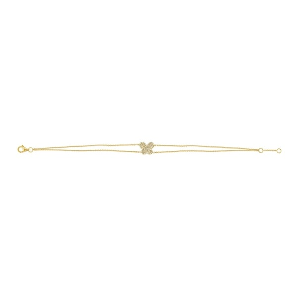 Joelle Diamond Pave Butterfly Bracelet 14k Gold 1/4 ct. TDW Gifts for Her. Opens flyout.