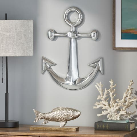 Talmo Indoor Aluminum Handcrafted Anchor Wall Decor by Christopher Knight Home