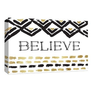 """PTM Images 9-148320  PTM Canvas Collection 8"""" x 10"""" - """"Believe"""" Giclee Believe Art Print on Canvas"""