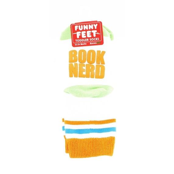 Funny Feet Toddler Socks: Book Nerd - Multi