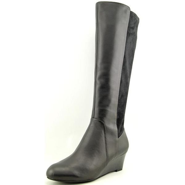 Giani Bernini Deanaa Wide Calf Women  Round Toe Leather  Knee High Boot