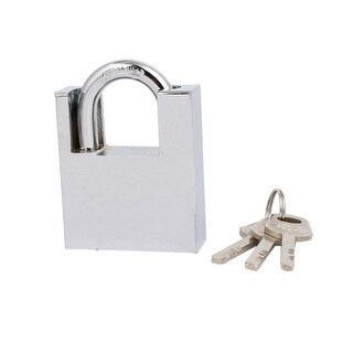 8mm Dia Shackle Safety Locking Padlock for Door Box Tool Case w 3 Keys