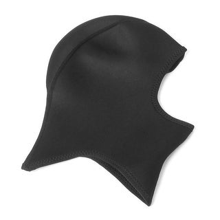 Unique Bargains Outdoor Sport Pure Black Neoprene Elastic Protective Head Neck Face Mask Size L