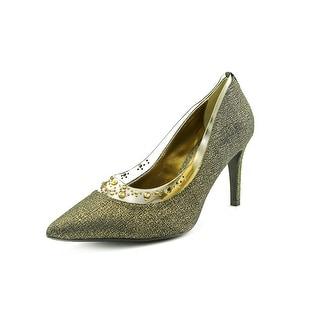 J. Renee Diamond Pointed Toe Canvas Heels