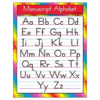 Chart Manuscript Alphabet Zanerbloser