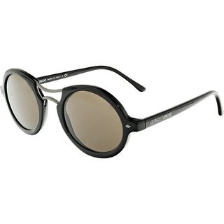 Giorgio Armani Mirrored AR8072-501753-48 Black Oval Sunglasses