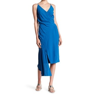 Keepsake Womens Small Asymmetrical Hem Sheath Dress
