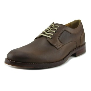 Johnston & Murphy Garner Men  Plain Toe Leather Tan Oxford