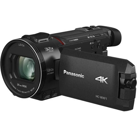 "Panasonic HC-WXF1K 4K Ultra HD 1/2.5"" MOS Sensor,EVF, Twin Camera"