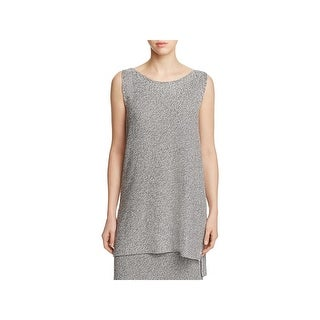 Eileen Fisher Womens Petites Tunic Sweater Tencel Hi-Low