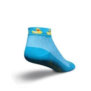 SockGuy Women's 1in Ducky Cycling/Running Socks - Size S/M - DUCKY