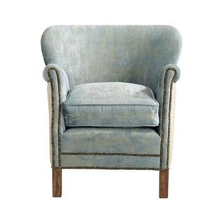 Cyan Design Bailey Chair Bailey 27.5 Inch Tall Wood and Foam Arm Chair - blue vintage velvet