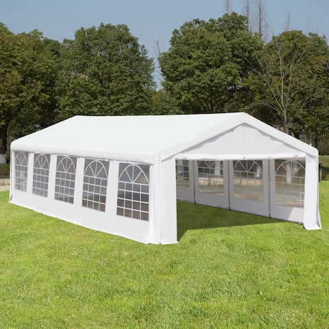 Outsunny White Heavy Duty Party and Event Tent