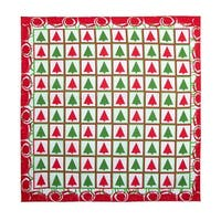 CTM® Women's Christmas Tree Checkers Holiday Bandana - One size