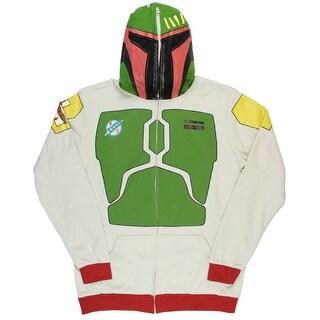 Star Wars Boba Fett Full Zip Adult Costume Hoodie With Backpack