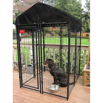 Lucky Dog® Uptown Welded Wire Dog Kennel - 6'H x 4'W x 4'L