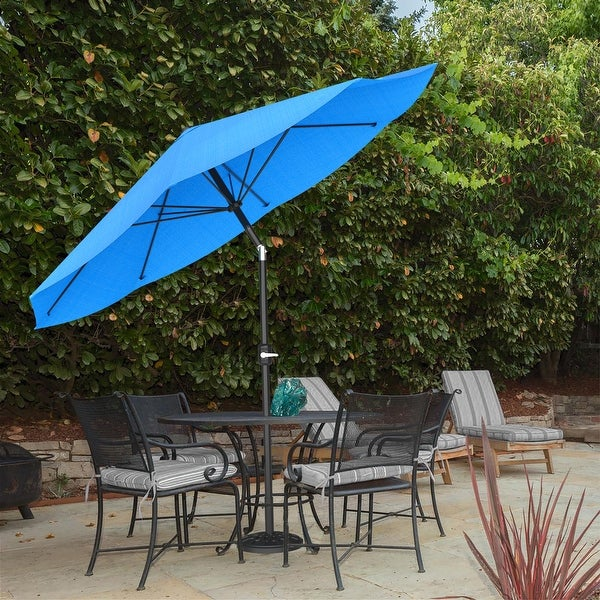 10ft Patio Umbrella with Auto Tilt by Pure Garden, Base Not Included. Opens flyout.