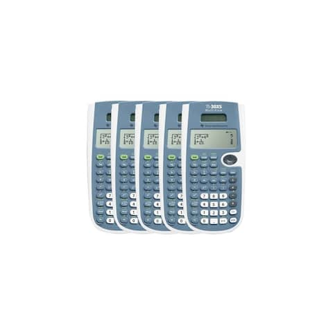 Texas Instruments 30XSMV/TBL (5-Pack) Texas Instruments TI-30XS Scientific Calculator - 16 Digit(s) - LCD - Battery/Solar