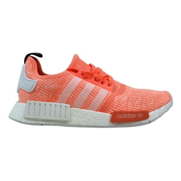 ab7c99ddd Shop Adidas NMD R1 W Sun Glow White-Coral Women s BY3034 Size 7.5 ...