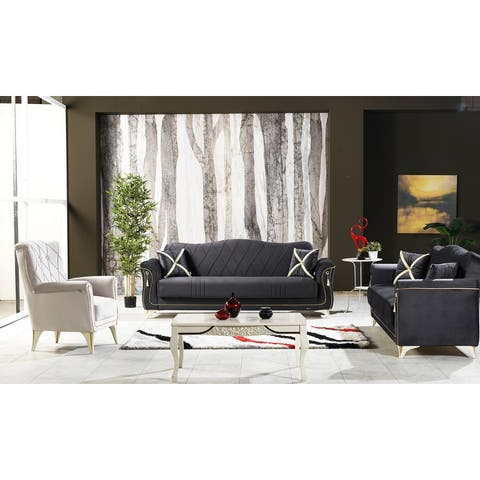Viktor Living Room Glamorous Convertible Sleeper Sofa