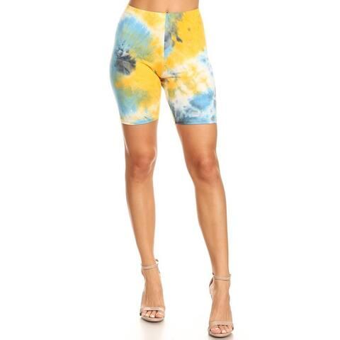 Women's Solid High Waist Lightweight Active Pants Biker Shorts