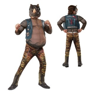 Boys Deluxe TMNT Rocksteady Rhino Halloween Costume