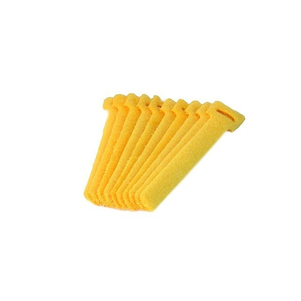 Monoprice Hook & Loop Fastening Cable Ties, 6-inch, 10pcs/pack, Yellow